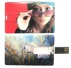 Hotselling credit card usb storage device
