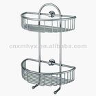 Metal bathroom shower rack