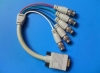 HDB 15pin male TO 5 BNC female socket Cable