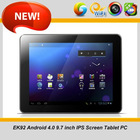 Android 4.0 A10 cortex A8 1.2GHZ MID 9.7 inch tablet pc