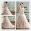 Goingwedding ruffle skirt white spaghetti straps wedding dresses with long train 2013 MR044