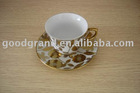Plated ceramic coffee set