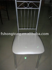 white color PVC cushion dining chair T02