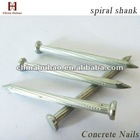 flat head spiral shank white galvanized concrete steel nails