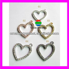 KA122 Crystal Heart charms pendant