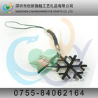 Supply retractable snowflake mobile phone strap\charm