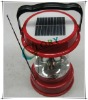 solar lantern for camping with led lighting with radio
