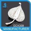 Leaf Brooches Alloy Crystal hot sale cheap brooches