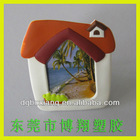travel gift small photo frame ,soft pvc photo frame for kids