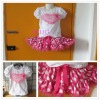 2013 spring/summer tutu skirts set,dots pettiskirts,pink skirt sets