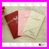 Elegant Wedding Card--Western Style Rose Desgin Wedding Invitation Card with Ribbon Decoration MIC