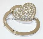New Gift Handbag Bag Hook Purse Folding Hanger Hook Holder Clear Heart Shaped