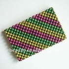 attractive fashion lady's colorful beaded purse
