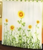 Polyester Embroidered Shower Curtain