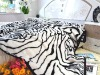 jacquard tiger fur throw