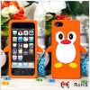 cute silicone penguin case for iphone 5 Christmas promotion