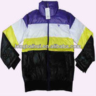 Young padding fashion 50D shiny winter bomber jacket stock