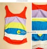 colourful cotton tank top for children