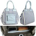 Canvas & PU leather lady handbag