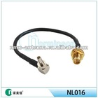 huaiwei CRC9 coaxial pigtail cable for huawei 3g modem RP-SMA male to TS-9/CRC9