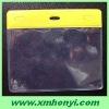 115 * 98mm pvc clear id name badge card holder