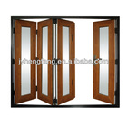 Wood grain color folding door outward and inward opening,big panels doors large opening type