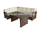 2012 new design style PE round rattan or wicker outdoor sectional sofa furniture morden