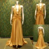 christmas promotion real sample satin evening dress 21557