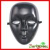 Mardi Gras Plastic Face Mask: Black