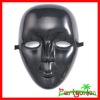 Mardi Gras Plastic Face Mask: Black