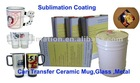 Sublimation Heat transfer coating for ceramic mug metal glass