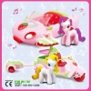 2 styles mixed can play music strawberry toy vehicle