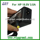 laptop adapter for HP 18.5V 3.5A yellow pin 65W replacement chargers