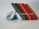 YPAC-L514 hot selling three fold stand leather case with card slot for iphone 5