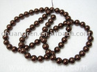 "32"" 12mm brown glass bead loose strand"
