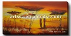 Lastest African Vledt Decoration Landscape Oil Painting