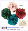2012 fashion 9 colors fabric flowr chiffon flower hair flower head flower with pin &clip