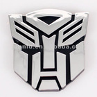3D Car Transformer Sticker ABS Chorome Autobots and Decepticons S/L/M Size Auto Emblem Decal Sticker Accept Paypal