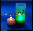 LED candle with holder