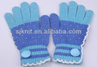 Hot sale finger glove with polka dot