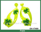 acrylic flower earrings of Latest fashion Jewelry with beaed