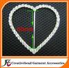 Heart Rhinestone Buckles Slider