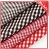 grid cotton fabric