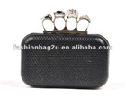 skull snake skin hard case PU party bag clutch