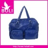 2012 zipper poly tote shoulder handbag new design blue duffel bag (BL53290TB-B)