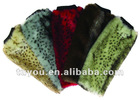 40CM Faux Fur Leg Warmer features Stretch Velvet or Foil Tie Band with Pom Pom