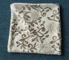 Flower printed velvet Cushion