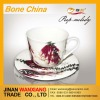 Ceramic bone china cup and saucer
