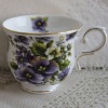 Bone china footed coffee cup
