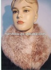 woman fashion, detached rabbit fur collar